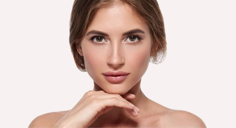 Glowing skin after a mesotherapy treatment